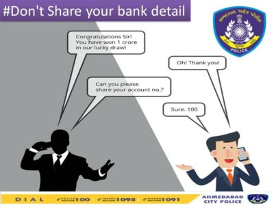 never share bank detail anyone