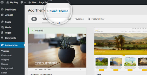 wordpress me theme install kaise kre